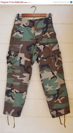 ON SALE Vintage Military Camo Pants Army Camo by founditinatlanta, $32.40