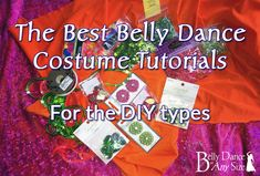 These are the best belly dance costume tutorials from Belly Dance at Any Size. (repining this because - oh hey! - they featured my bra tutorial :) )