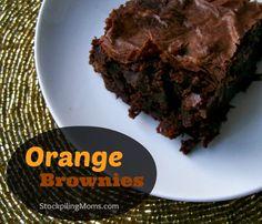 Orange Brownies using essential oils. #essentialoils #brownies #dessert