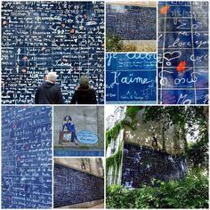 the wall of I love you's...how romantic...:)