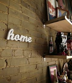 home wood sign made from recycled wood by WilliamDohman on Etsy, $42.00