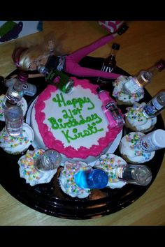 21st  Birthday cake. Barbie, go home. You're drunk. LOL