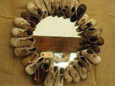 baby shoe mirror frame
