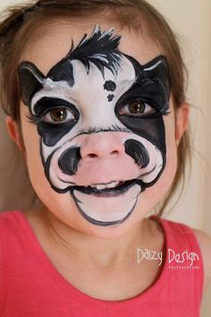 halloween costumes, birthday parties, face paintings, cow costume, facepaint, cow face, zoo party, face art, kid