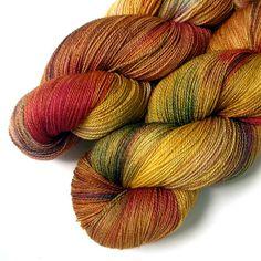 SW Merino and Silk Yarn Lace Yarn - Autumn Orchard, 870 yards $33.00
