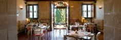 Nice hotel restaurant at Italian olive garden