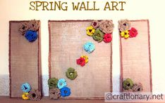 #DIY Burlap Home Wall Art Frames (Tutorial) #recycle #upcycle #craft