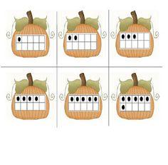 Classroom Freebies: Pumpkin Ten Frames