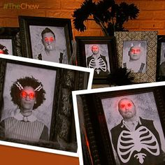 Spooky #Halloween Portraits #ClintonsCraftCorner #TheChew #Crafts