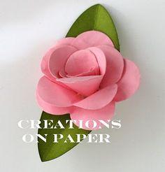 Creations on Paper: Fancy Flower Tutorial - Rose