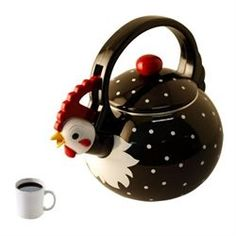 Rooster Whistling Tea Kettle from My Pet Chicken