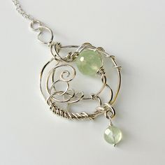 ENTWINED  Bright Sterling Prehnite and Quartz by sparkflight, $155.00