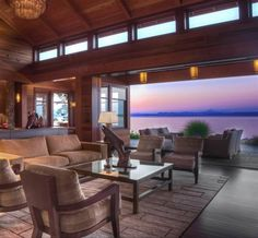 Very few homes possess the grandeur and elegance that this one has. What's your take on this remarkable living room that opens out to the outdoor patio? Coldwell Banker San Juan Islands, Inc. Friday Harbor, WA Luxury