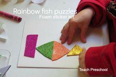 books, craft, sea activ, preschool wonder, fish puzzl
