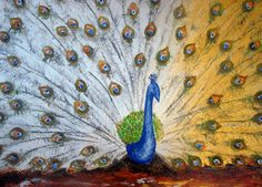 Ölgemälde Original - Peacock Poppies Water Lily Blue Moon - Vier Ready To pastose Malerei Hang - Zeitgenössische abstrakte Kunst - Half Price!  Die...