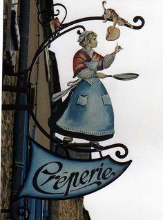 paris, rochefort en, crepes, enseign, shop signs, french, franc, creperi, en terr