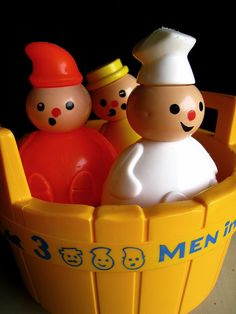 Three men in a tub... my baby sister used to take them in the tub