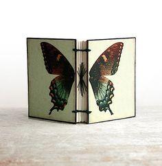 hand-stitched journal handstitch journal, butterfli mini, flutterbi butterfli, journals, butterflies, book, minis, mini handstitch, butterfli journal