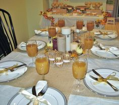 Thanksgiving Table Setting #thanksgiving #table