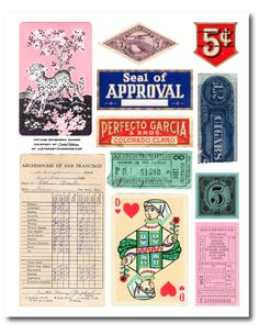 vintage printables from Cathe Holden