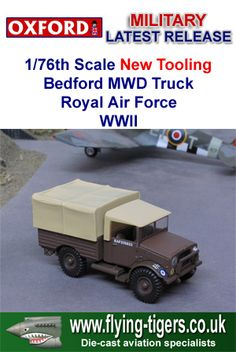 76MWD003 New 1/76th Scale Bedford MWD Utility Truck 'Royal Air Force WWII' - Fantastic new diorama accessory, which is available now!