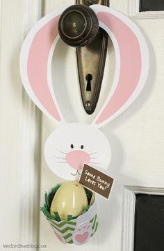 lapin de porte, Easter Door Hanger