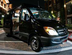 Custom built Mercedes vans for rock stars.