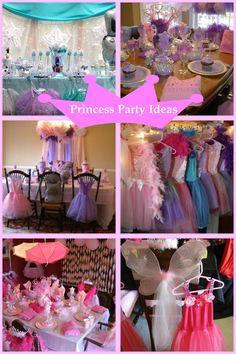 Princess Party Ideas.  So many Princess Party Ideas from My Princess Party to Go.  Shop www.myprincesspartytogo.com  #princesspartyideas #princessparty
