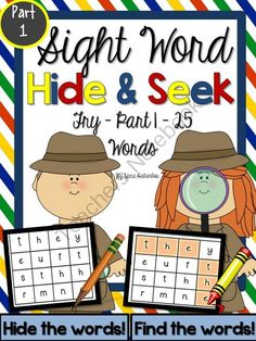 Sight Word Hide & Seek Word Hunts Part 1 - Fry - 25 Words from SeaofKnowledge on TeachersNotebook.com -  (60 pages)  - Sight Word Hunts Hide & Seek: I used this set to tutor my ESL students in practicing their spelling, writing and letter recognition.  Download the PREVIEW to get FREE pages from this pack!