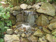 DIY pondless waterfall