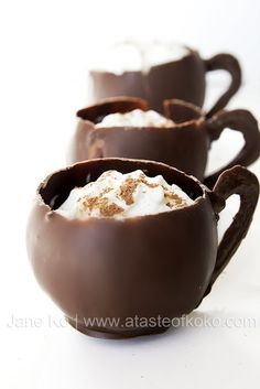 Hot Chocolate in Chocolate Cups!