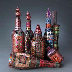 more mosaic bottles ~ Laurel Skye