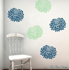 Vinyl Wall Decals Flower WallPaper Bloom Decals by LaLeni on Etsy, $26.00