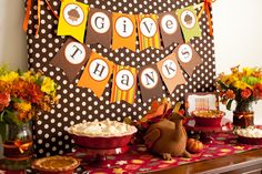 Thanksgiving Dessert Table from Frog Prince Paperie via Project Nursery