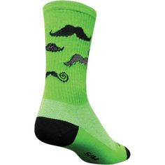 Sock Guy Mustache Sock Green at Volleyball.Com