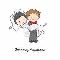 Wedding invitation card Stock Photo
