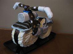 Diaper Motorcycle - Baby Shower Gift - Boy - Baby Shower Centerpiece