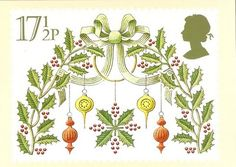 ♥ British Christmas Postage Stamp ♥