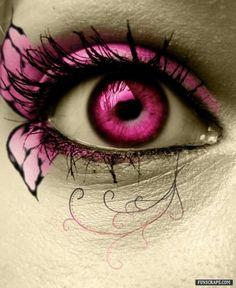 She has pink eye.