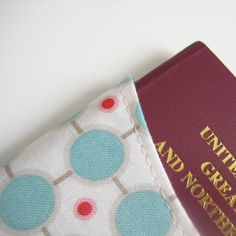 """Sewn """"sleeves"""" for passports?! I could make these!"""