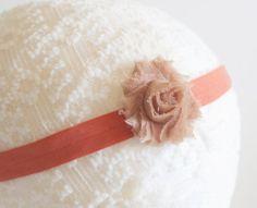 headband flower headband blue headband handmade by TheSavvyLaydee, $3.00