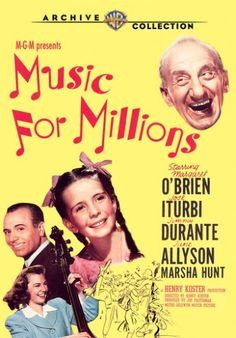June Allyson, Margaret O'Brien, and Jimmy Durante= Wonderful film