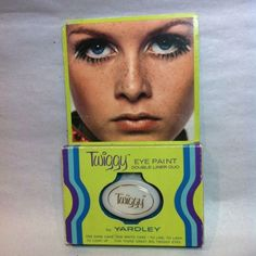 ©1967 TWIGGY Yardley Eye Paint MOC unused Mod Fashion Model