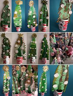 recycled cardboard trees -Loads of recycling ideas at this site
