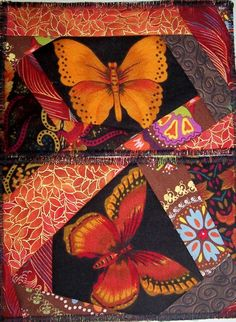 Set of Two PostcardsOrange Butterfly by mkhquilts on Etsy,