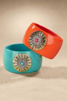 Sunburst Bracelet from Soft Surroundings  My two favorite summer colors