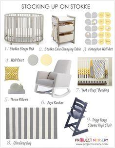 Yellow & gray nursery