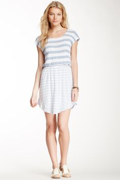 Splendid Chambray Stripe Dress//