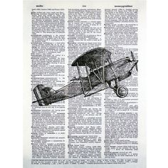 biplane print idea