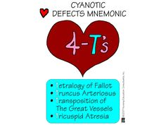 Cyanotic Heart Defects Mnemonic-- my sweet daughter, Alexa, had Transposition of the Great Vessels...